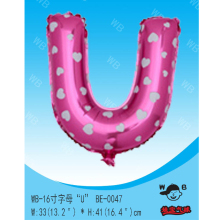 Factory sell custom logo inflatable foil alphabet balloons
