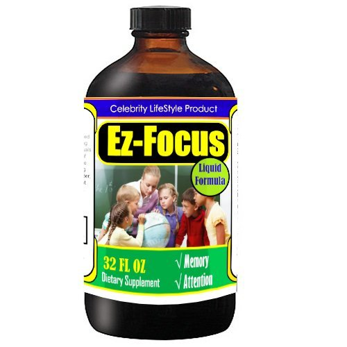 'Ez Focus' Brain Focus Supplement Formula For Kids, Focus, Brain Nutritional Support #1 NON STIMULANT, NON-HABIT FORMING, & NON ADDICTIVE BRAIN FOCUS FORMULA FOR KIDS 45 Days supply