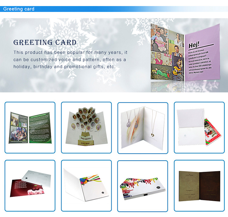 2017 Hot sale video card, video birthday greeting card
