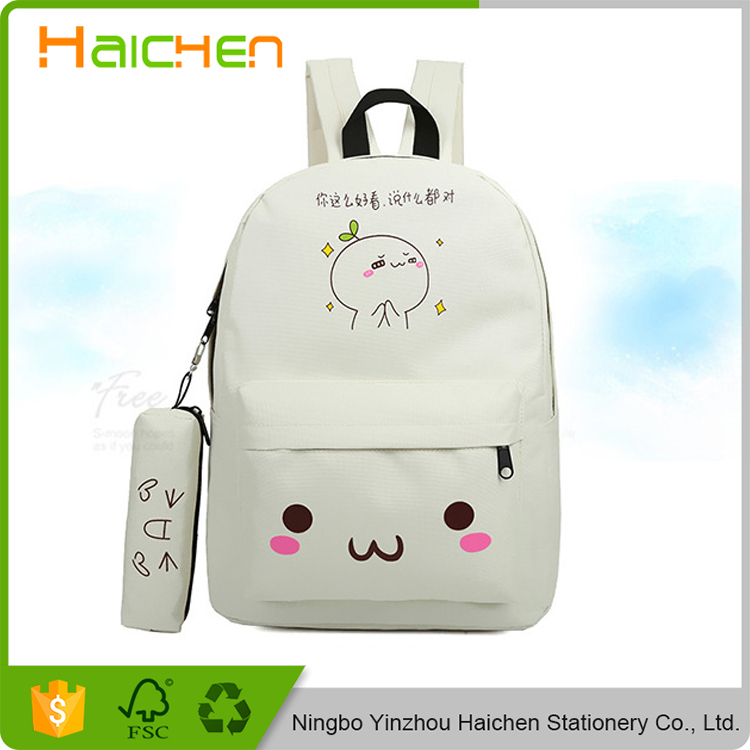 bag school backpack youth kawaii printing backpack school bag cute emoji backpack emotion for teenagers sac a dos ecol