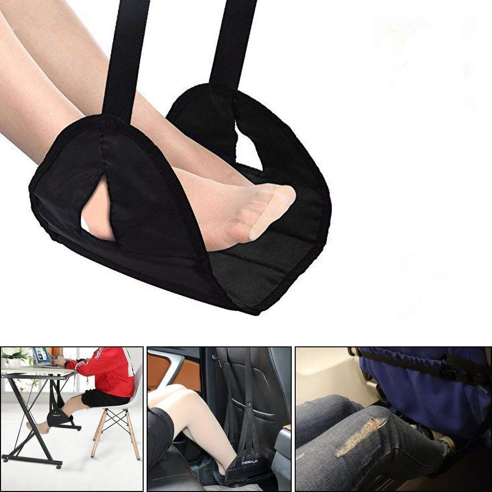 Airplane Footrest Foot Rest for Airplane Travel Office, Portable Hammock Footrest with Memory Foam Travel Accessories Portable Carry-on for Sleep Relax