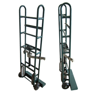 Built-in stair climbers with high quality nylon belts steel two wheel hand truck /hand trolley for sale