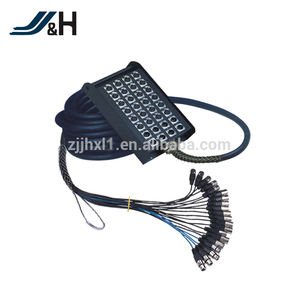 OEM Available 5M 10M 15M 20M 50M 16 Input 4 Output 20 Channel XLR Audio Snake Cable With Stage Box