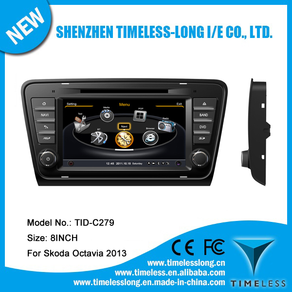 Car Audio for Skoda Octavia 2013 with built-in GPS A8 chipset RDS BT 3G/Wifi 20 dics momery (TID-C279)