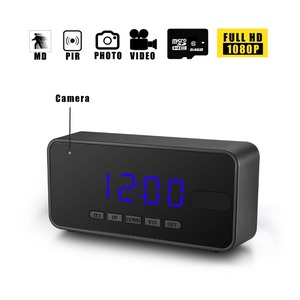 hidden camera clock long time recording with auto night vision motion detection fullHD 1080P PIR smart clock hidden camera