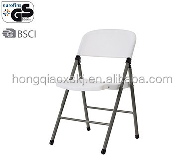 hot sale restaurant chair furniture folding dining chair wholesale PP stackable plastic folding chair