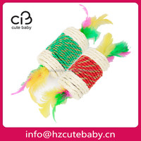 sisal candy shaped interactive cat toy