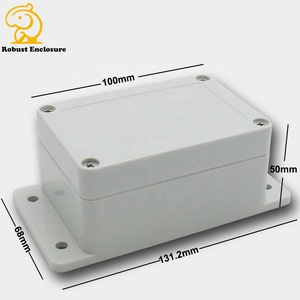 Small outdoor PVC plastic waterproof enclosure Junction plastic machine box 100*68*50mm