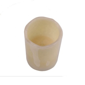Pillar Pomegranate Scented yellow light real wax LED Candle with 5 hour timer