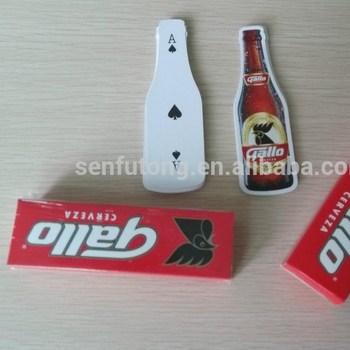 Beer bottle shape playing card