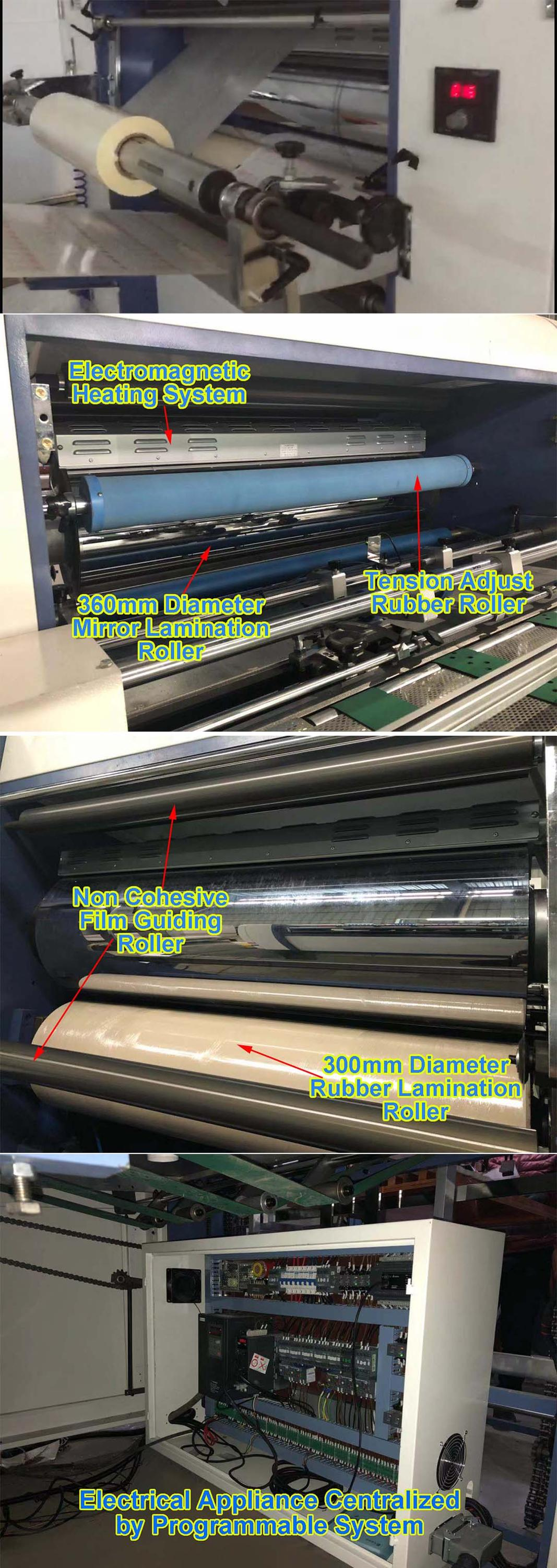 High speed automatic thermal film laminating machine sheet fed fully automatic laminating machine