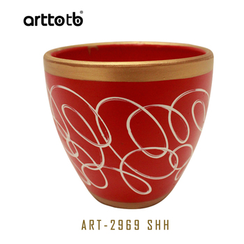 Small sizes 3pcsset flower pots vintage red and gold color garden small sizes 3pcsset flower pots vintage red and gold color garden pots for plant workwithnaturefo