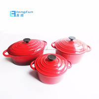 Amazon Hot Selling 6pcs Enameled Cast Iron Cookware Sets for kitchen