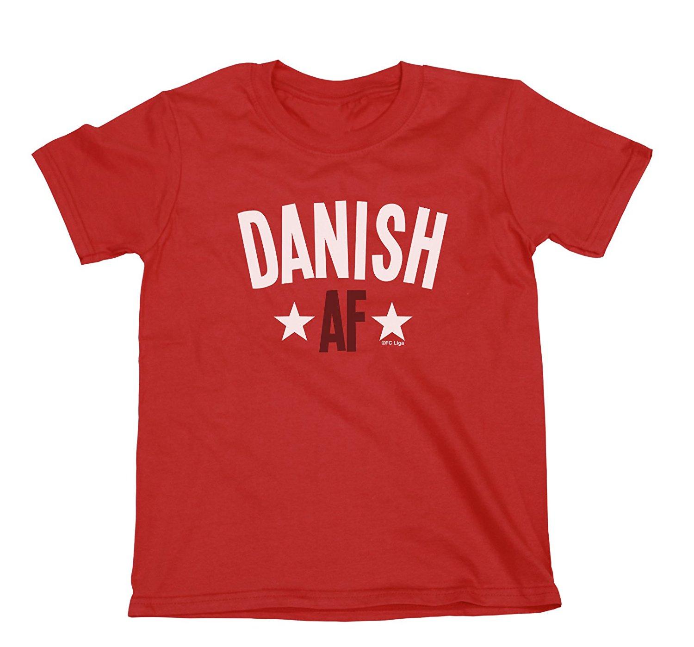 Get Quotations · FC Liga Danish AF Boys Girls Denmark T-Shirt Football  World Cup 2018 Kids Sports d3060d80f