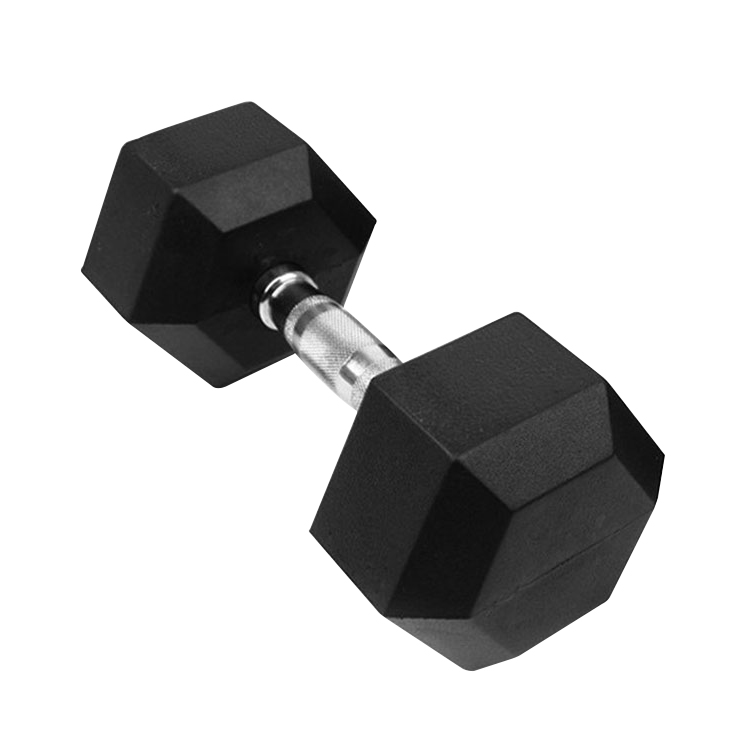 Factory Wholesale Gym Equipment Rubber Hex dumbbell