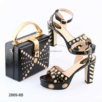 BL2869 African Shoes And Bags To Match platform real pu italian shoes and bags to match women Purse For