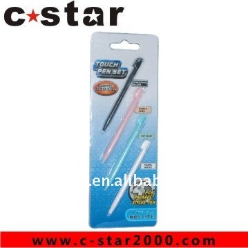 Crystal Retractable Stylus touch pen for NDSi Video Game Accessories