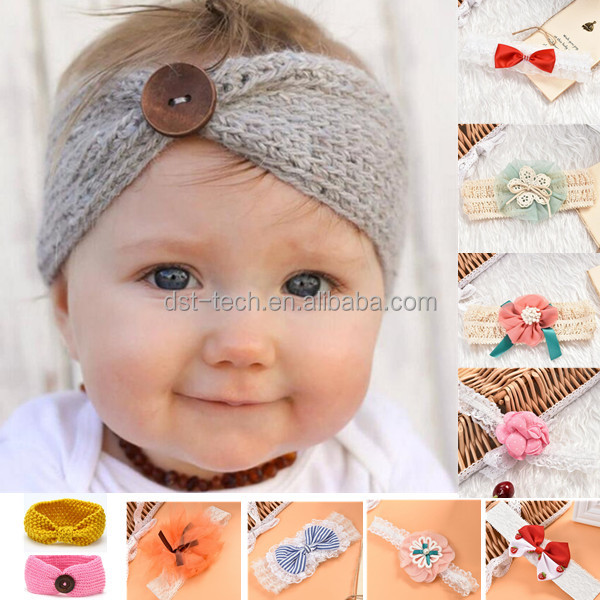Christmas gift fashion cute baby cap wool knit <strong>headband</strong> for winter