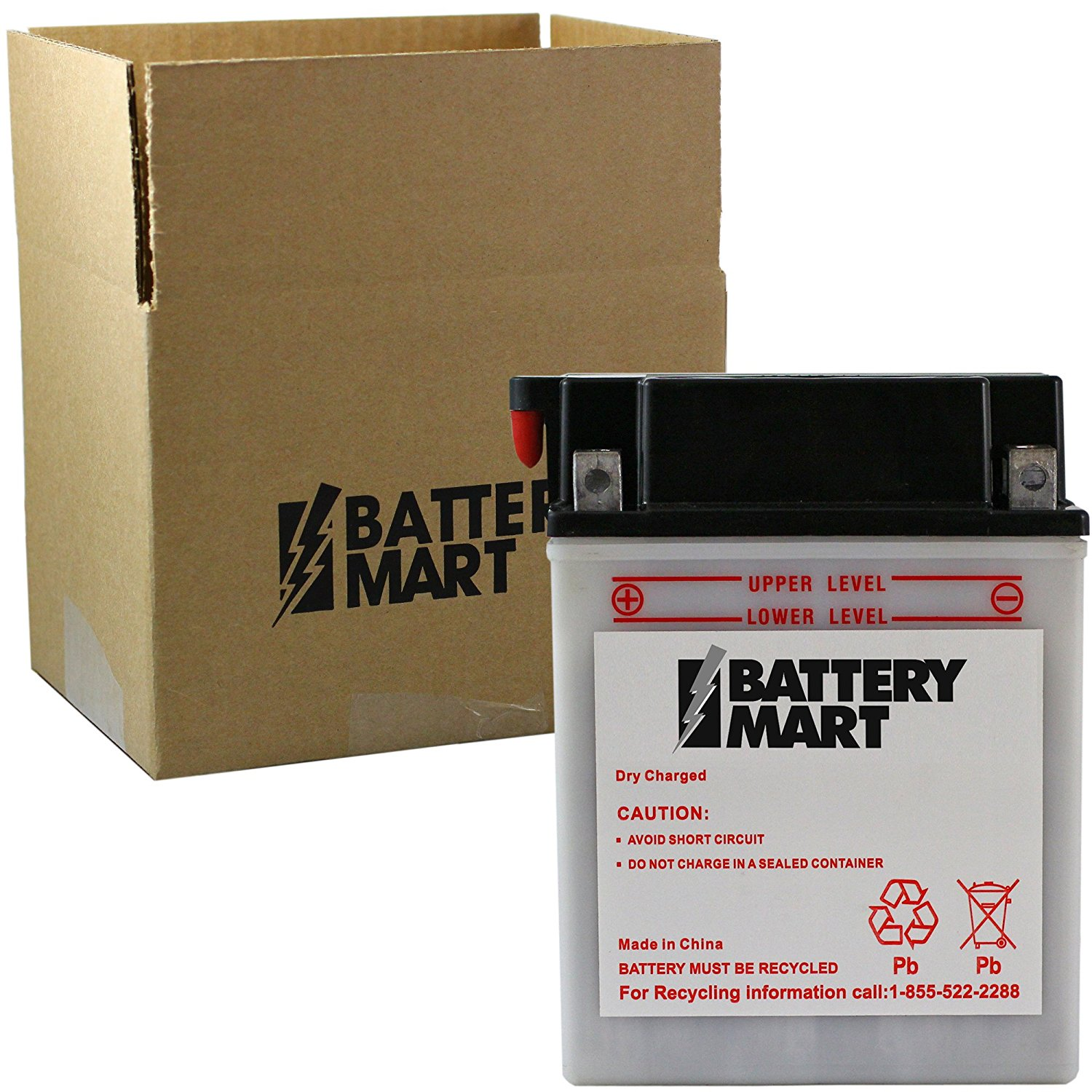 YB12C-A Dry Charge Motorcycle Battery Replaces 01-185, 12N12C-4A-2, 1B12CA, 1UY-82110-61-00, 3FA-82110-12-00, 740-1823-44055, CB1-2CA00-00-00, CB12C-A, GM12CZ-4A-2, M222CA, MOFM322CA, and MORE!!