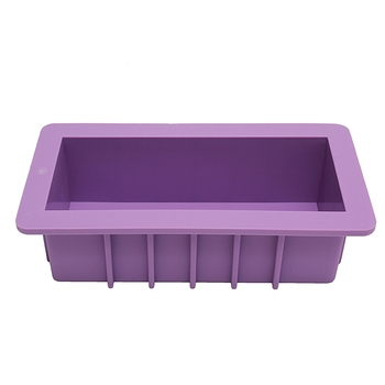 Flexible Rectangular Soap Silicone Mold Candle Making for Homemade Soap Crafts