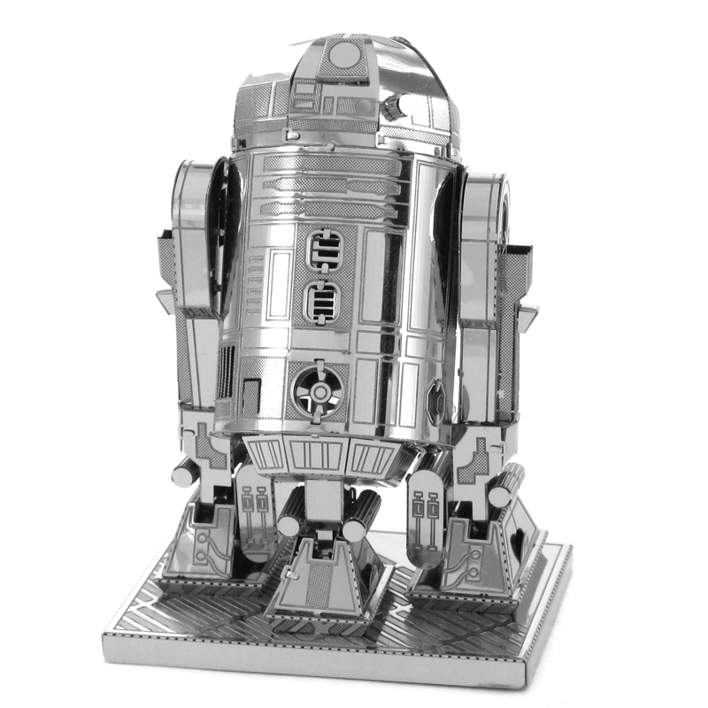 3D metal model R2 D2 Robot Star Wars 3D puzzle Wholesale price Stainless steel Etching Children