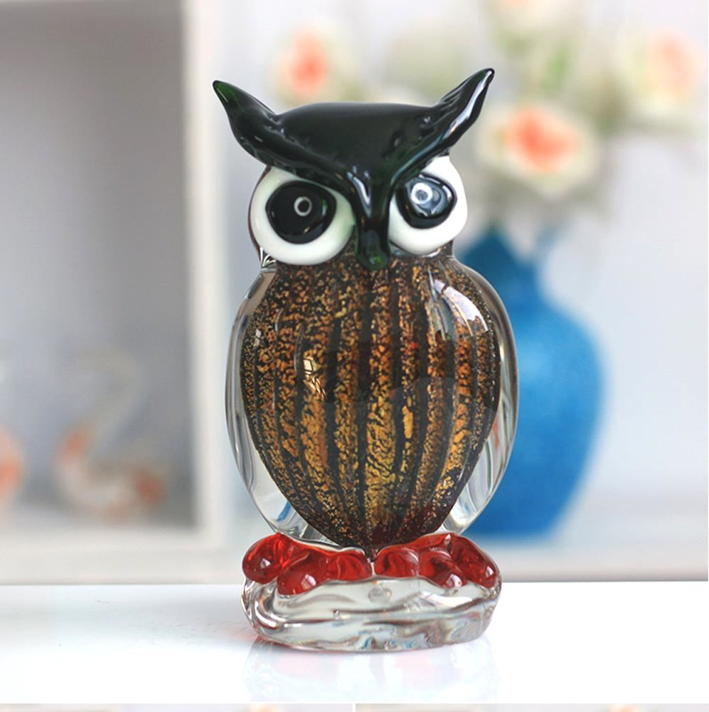 Buy Large 63 Tall Murano Art Masterpiece Glass Owl Sculpture