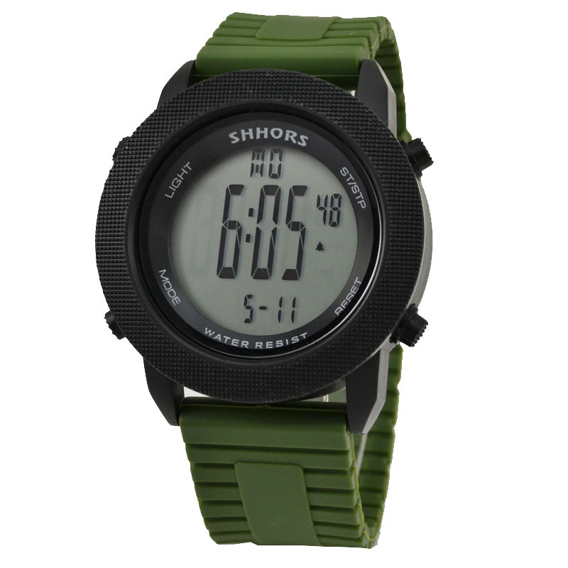Hot Selling Cheap Military Green Led Digital Watch Men Outdoor Sports Led Electronic ...