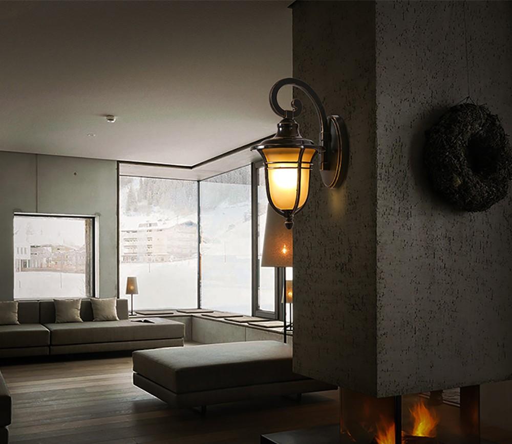 Indoor Outdoor Wall Lamp Antique Flexiblewall Mount Led Light ...
