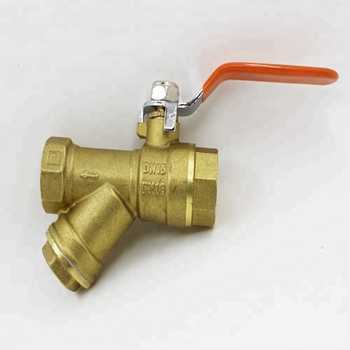 Long Handle Y Strainer Brass Ball Valve With Filter
