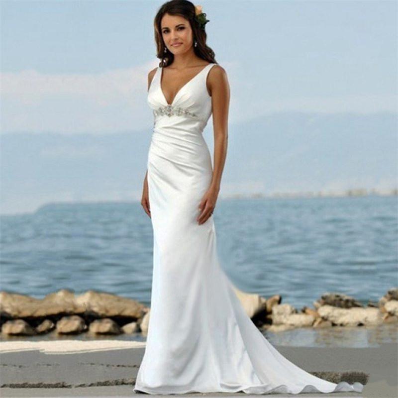 Beach Wedding Dresses: 2015-Tank-Chic-Romantic-Bohemian-Beach-Wedding-Dress-Hot