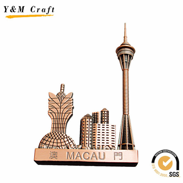 2017 wholesale resin tourist custom 3d magnet metal fridge souvenir fridge magnet