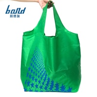 reusable foldable recycle eco friendly custom logo wholesale foldable nylon foldable bag nylon fabric for bags