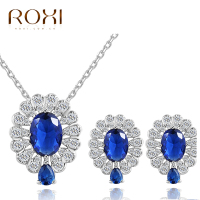 Roxi African Jewelry Sets Dubai Bridal Blue AAA Zircon Jewelry Set Dubai Bridal Wedding Jewellery Sets