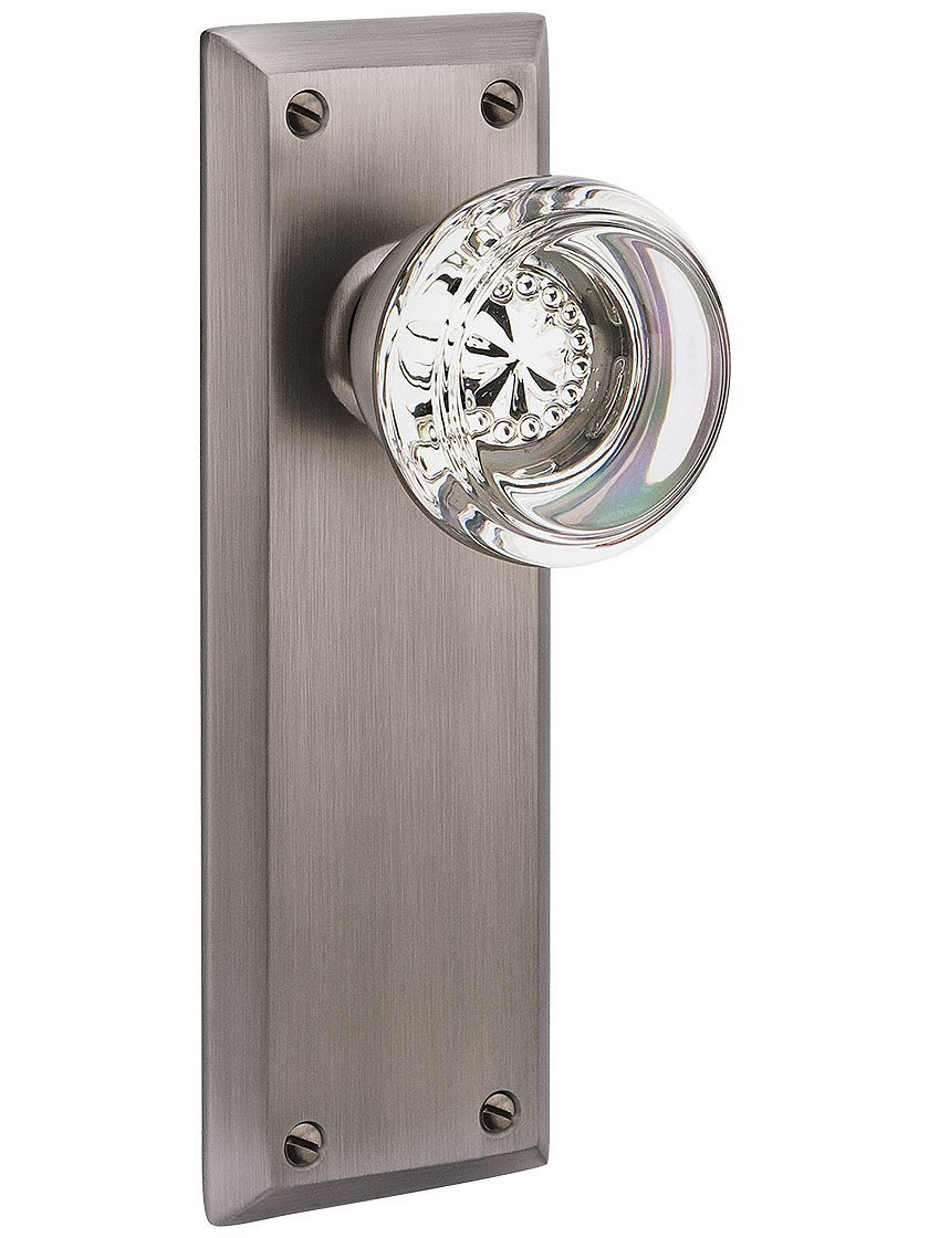 Get Quotations · Quincy Door Set With Georgetown Knobs Double Dummy In Antique  Pewter