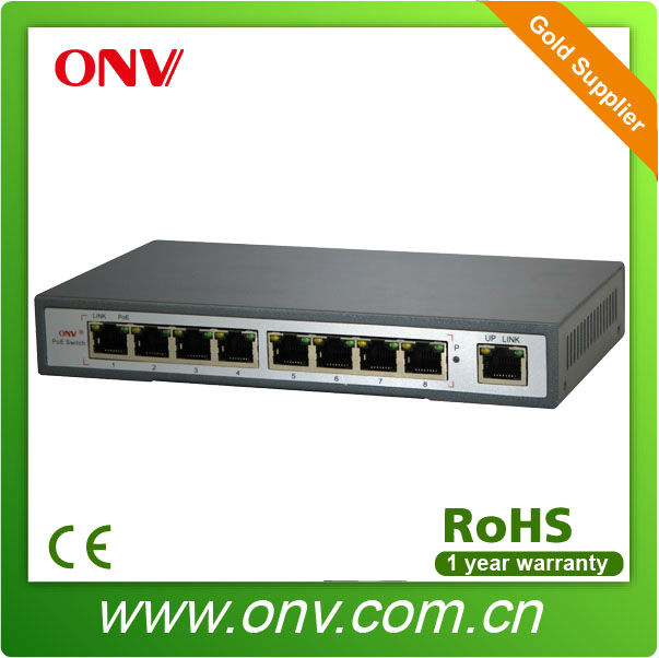 PoE fast ethernet swith 8 port
