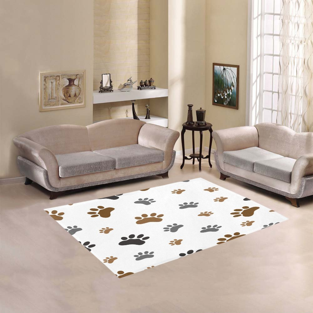 Dog Paw Print Rugs Area Rug Ideas