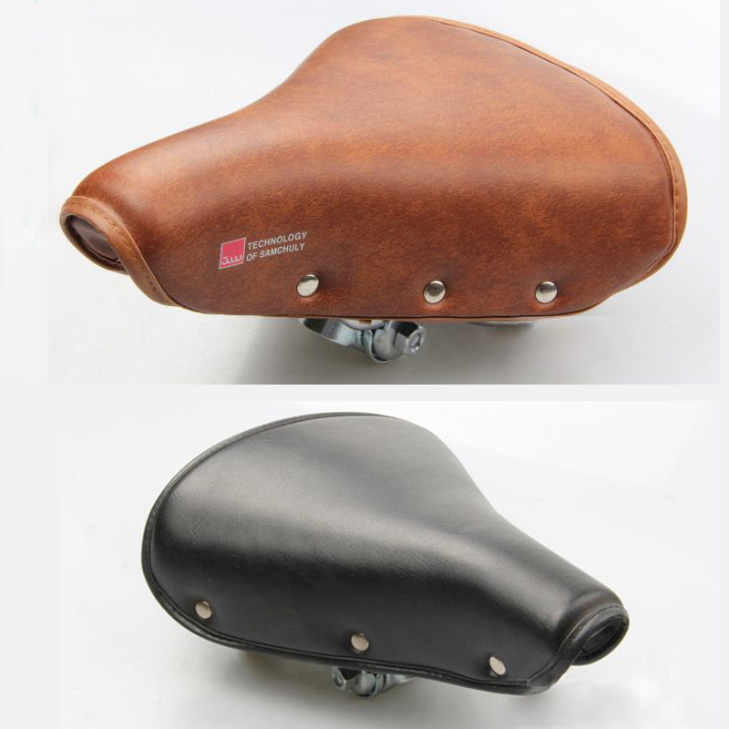a1c931fd000 Get Quotations · Vintage Bicycle Saddle Retro Riveted bicycle seat  Comfortable bike seats brown sillin ciclismo bicicleta sillines 25