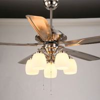 HAMPTON BAY Hugger 52 in. LED Brushed Nickel Ceiling Fan