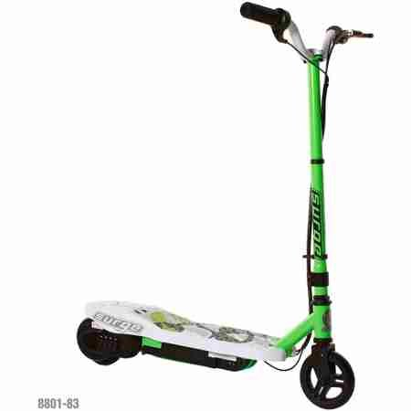 Surge Boys' 12V Electric Scooter, Green - Children's Balance Bikes - Scooter - Electric scooter for boys with front hand brake