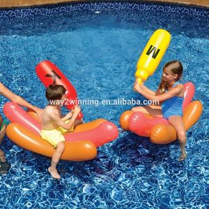 Inflatable Hot Dog Joust Pool Game Battle Inflatable Float inflatable adult water toys