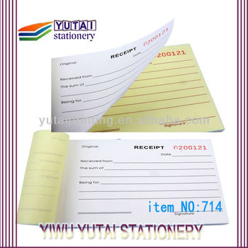 2014 Professionnal Sample Receipt Book Online Bulk Order - Buy ...