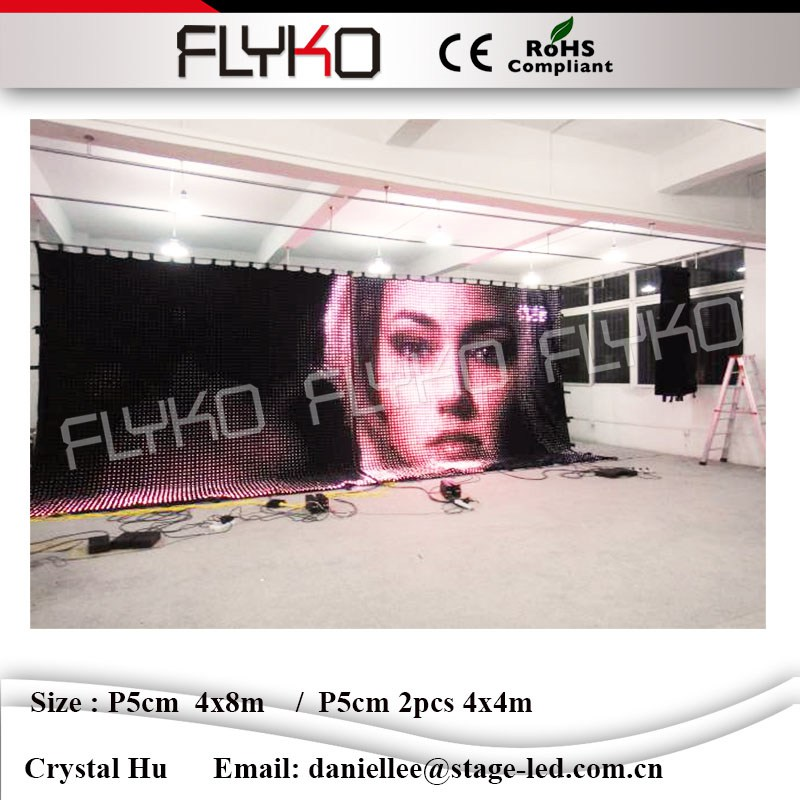 High Quality Folding <strong>Led</strong> <strong>Display</strong> / moving <strong>Led</strong> Curtain / <strong>LED</strong> Video wall P5 indoor / outdoor rental P5cm 4x8m