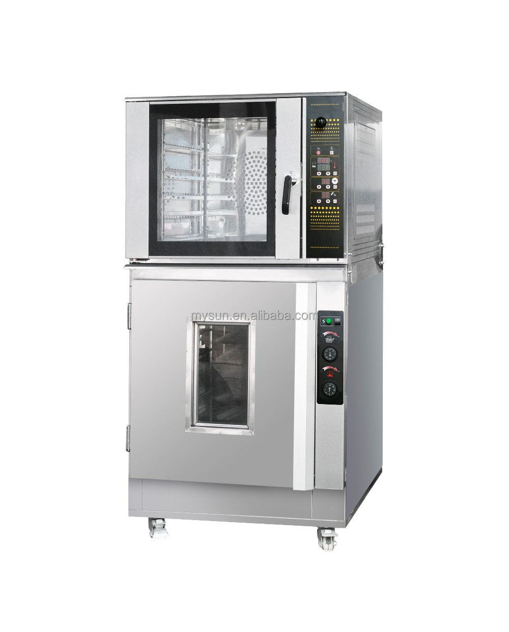 2017 Electric Small 5 Trays Convection Bakery Ovens With 16 Trays proofer Bread Automatic Oven