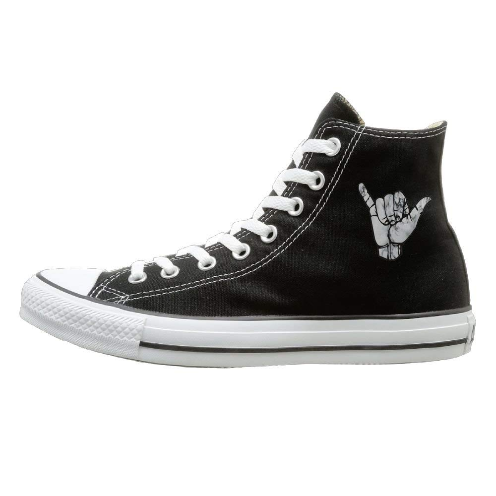 Shaka Hand Marble Cosplay Canvas Shoes Hand-painted Shoes Sneakers