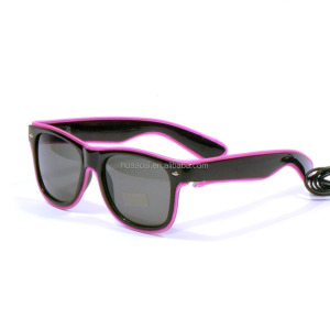 Sale purple led el wire sunglasses for crazy party christmas gift