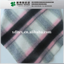 Hot sale soft drawn finish acrylic wool blended fabric