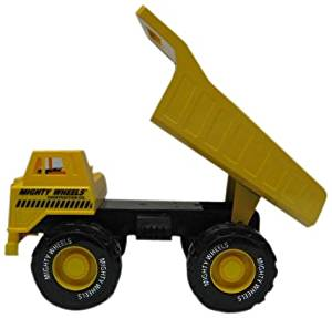 Mighty Wheels Heavy Steel and Plastic Dump Truck/Front Loader
