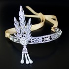 Free Shipping Fashion Crystal Rhinestone Great Gatsby Headband Daisy Bridal Headwear MYGBC033