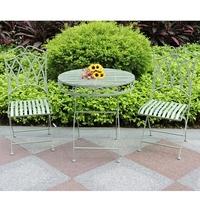 Gothic vintage Sage green metal leisure way patio furniture