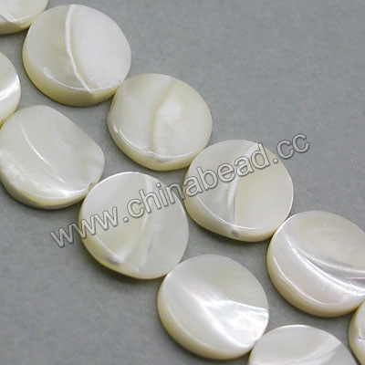 Fashion natural shell bead, mother of pearl disc shell beads